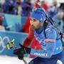Frankreichs Schlussläufer Martin Fourcade holte bereits sein drittes Gold in Südkorea