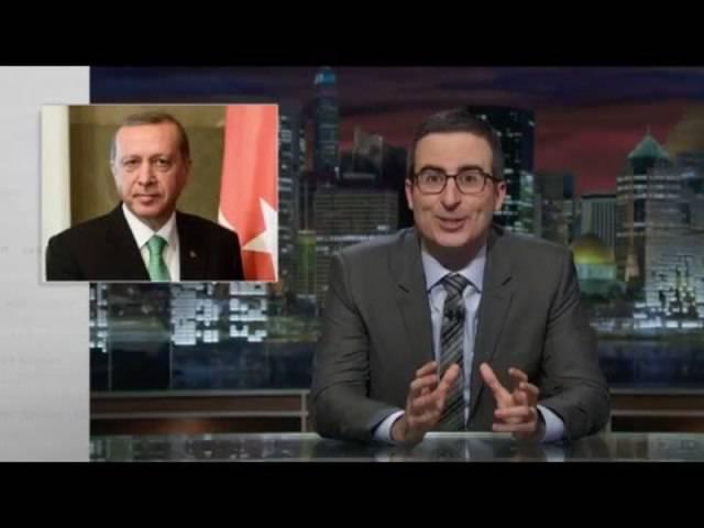 John Oliver verschmäht den türkischen Präsidenten Recep Tayyip Erdogan.