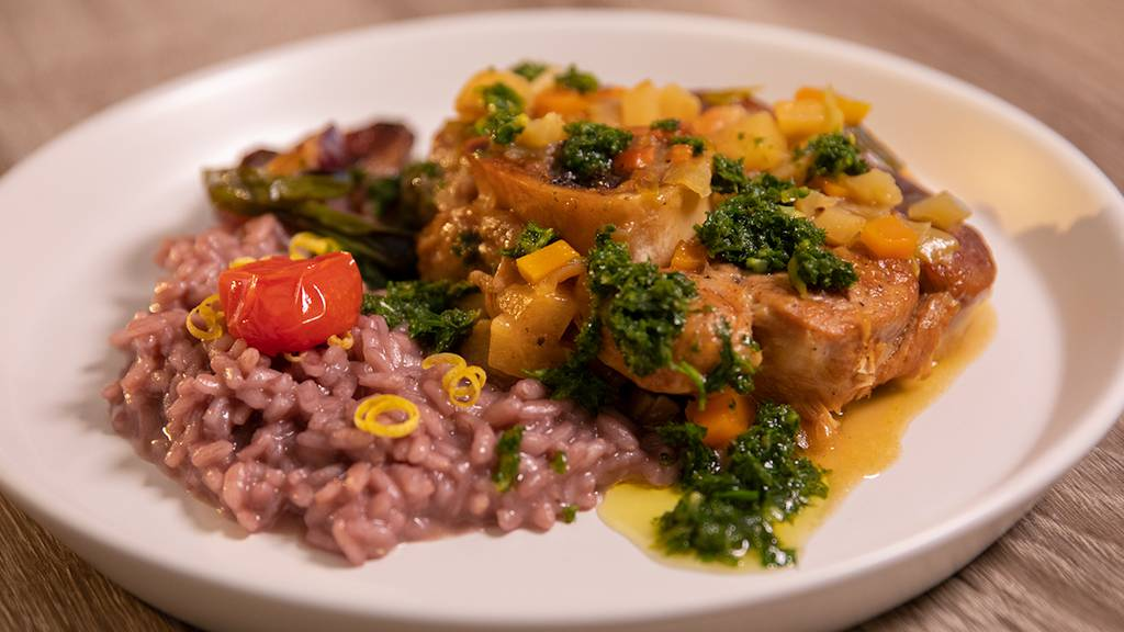Kalbshaxe an Gremolata-Sauce von Lorenza