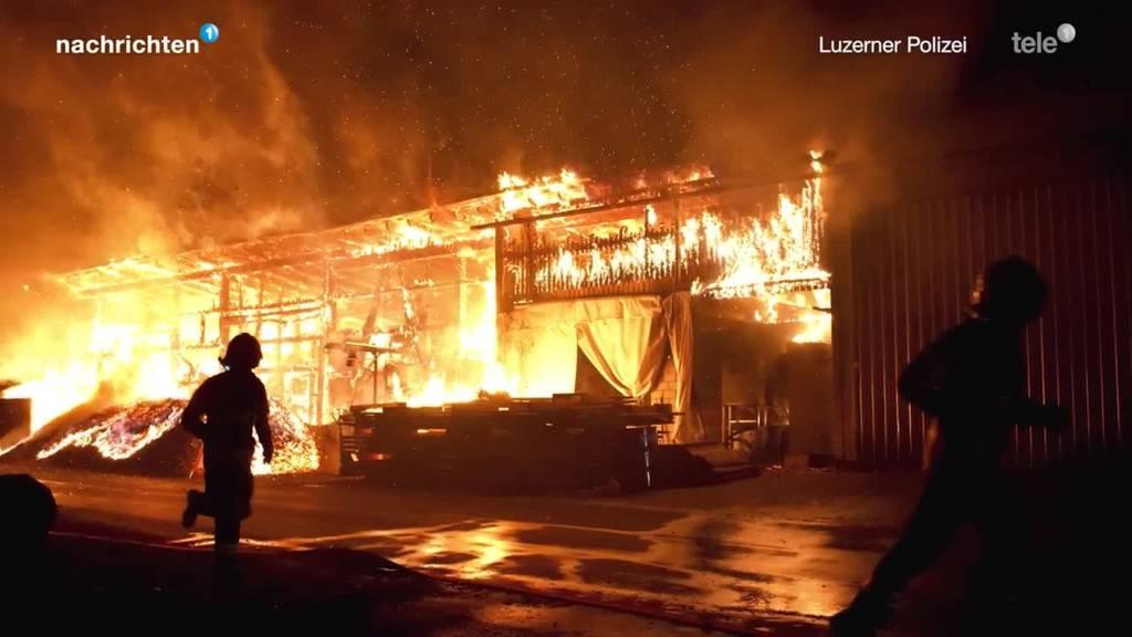 Holzvergaseranlage brennt vollständig ab