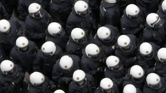 Grosses Polizeiaufgebot in Frankfurt