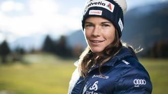 Bereit für den WM-Winter: Nathalie von Siebenthal Anfang November in Davos