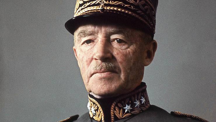 General Henri Guisan (1874-1960) war im und nach dem Zweiten Weltkrieg ein Schweizer Nationalheld.