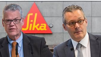 Mitglied der Gründerfamilie Urs Burkard (l.) und Sika-Verwaltungsrat Paul Hälg (r.)
