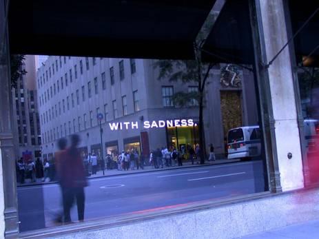 Die leeren Schaufenster in New York nach den Anschlägen
