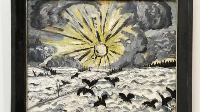 """Der expressionistische """"Sonnenaufgang"""" von Otto Dix aus dem Jahr 1913"""