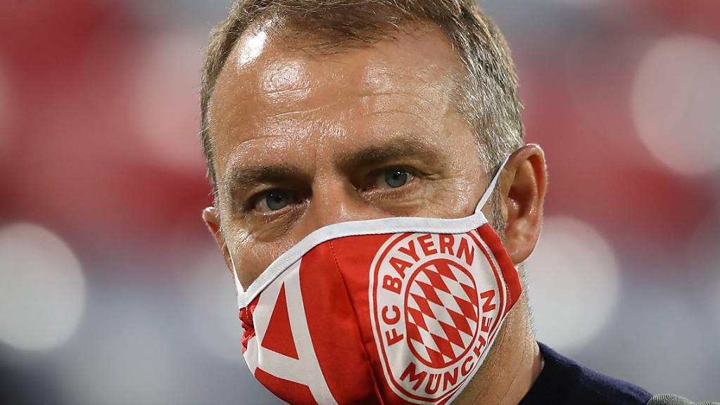 Hansi Flick könnte nach vier Titeln als Spieler mit Bayern München nun seinen ersten als Cheftrainer feiern