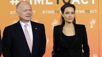 Schauspielerin Angelina Jolie und Aussenminister William Hague