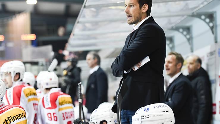 Der Schweizer Nationaltrainer Patrick Fischer im Dezember 2015 in Arosa