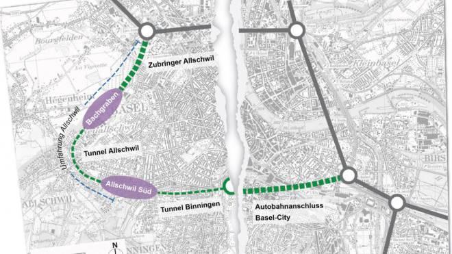 Riss in der Verkehrsplanung beider Basel: Basel-Stadt streicht den Gundeli-Tunnel. Foto: Marco Tancredi