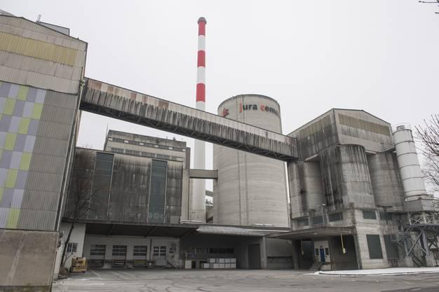 Revisionarbeiten am Betonwerk der Jura Cement in Wildegg, 26. Januar 2017.