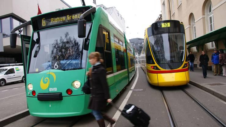 Der VCS fordert, dass die Tramlinie 6 in Riehen bis nach Lörrach verlängert wird. (Archiv)