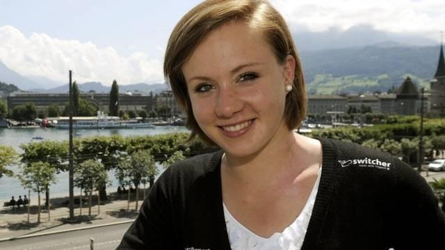 Am 11. Juni 2011 hatte Kaeslin an einer Pressekonferenz in Luzern ihren sofortigen Rücktritt vom Spitzensport erklärt (Archiv)