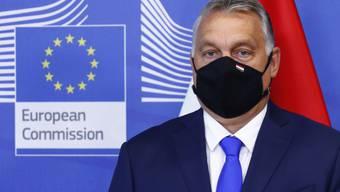 Viktor Orban, Ministerpräsident von Ungarn, steht vor einem Treffen der Visegrad-Staaten im EU-Hauptquartier in Brüssel. Foto: Francois Lenoir/Pool Reuters/AP/dpa