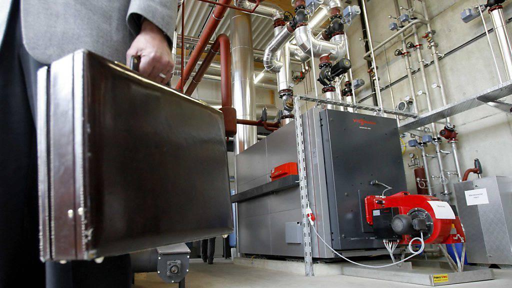 Die Holzverstromungsanlage des EWN in Oberdorf bei Stans: Künftig soll der Stromanbieter auch andere Energieträger produzieren können. (Archivbild)