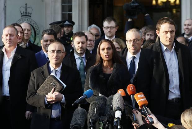 Gina Miller, eine der Anklägerinnen, vor dem Supreme Court in London.