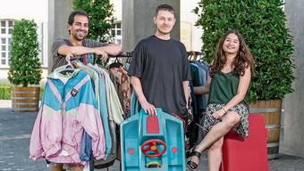 Die «Brugger Messies» (von links): Misael Morant, Nikola Antolkovic und Patricia Wassmer setzen sich für einen besseren Austausch zwischen den Quartieren ein.