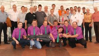 Der Präsident des Aargauischen Gewerbeverbands Kurt Schmid lobte Idee und Umsetzung der Gewerbearena.