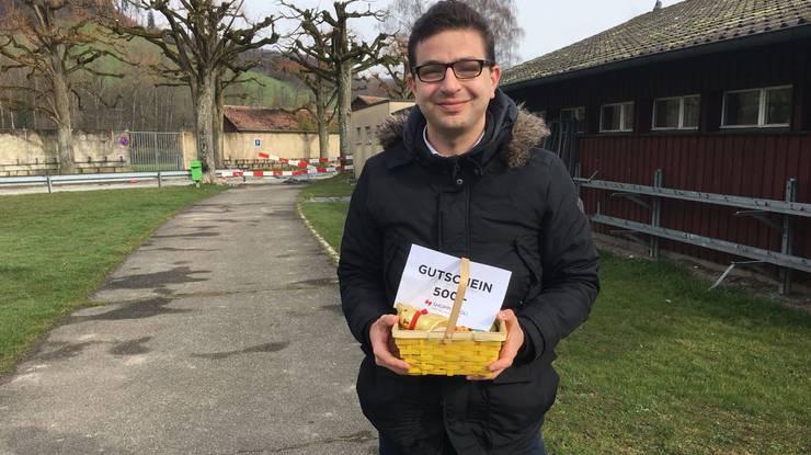 Sandro Bruni aus Obergösgen findet das letzte Osternest
