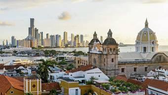 Sonnenuntergang in der Hafenstadt Cartagena de las Indias, eine der schönsten Kolonialstädte Südamerikas.