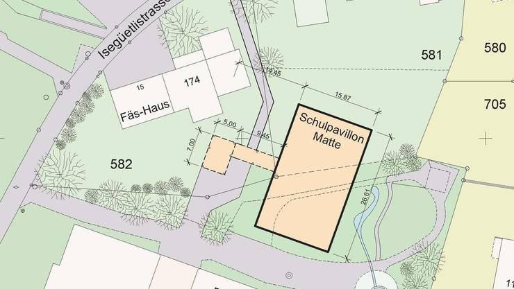 Der Pavillon «Matte» wird in den nächsten Monaten gebaut.