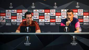 Seit Freitag definitiv getrennt: Trainer Unai Emery (links) und Granit Xhaka.