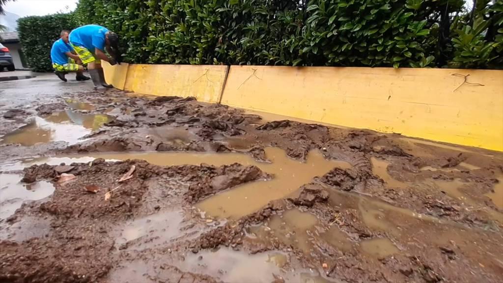 Starkregen: Erste Überschwemmungen im Tessin