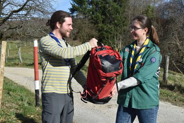 Der Wanderrucksack wurde am 22. Februar 2020 feierlich vom Vorstand der Pfadi Aargau an die Pfadiabteilung Gränichen übergeben. Von dort nahm er seine Reise auf.