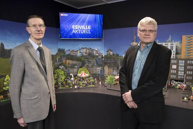 Von links: Professor Alexander Wokaun vom PSI und Peter Jansohn, Projektleiter der ESI-Plattform.