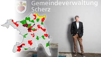 Hans Vogel hat Scherz als Gemeindeammann mit Lupfig zusammengebracht. Viele Fusionenbemühungen im Aargau enden erfolglos.