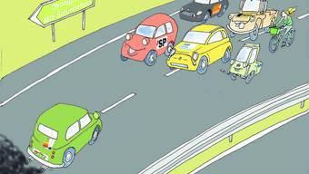 Gegenverkehr: Nach der SVP sagt nun auch das Autogewerbe Nein zur Ökologisierung der Motorfahrzeugsteuer.