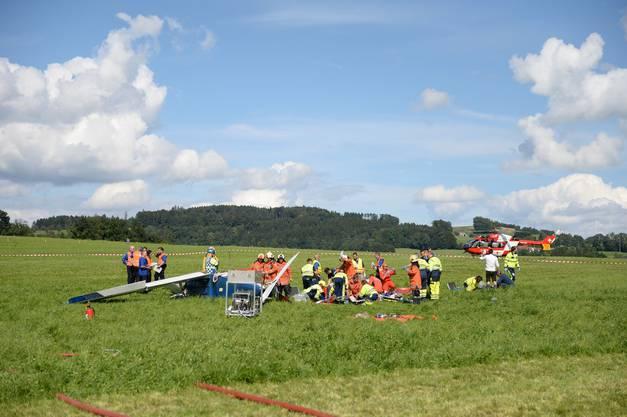 Flugzeugcrash zweier Kleinflugzeuge über der Ostschweiz