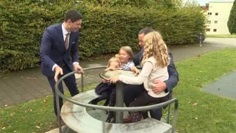 «Egoistisch betrachtet wunderbar, aber ...»: die beiden SVP-Politiker Benjamin Giezendanner und Martina Bircher am Abstimmungssonntag.