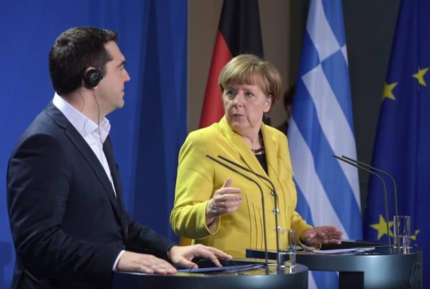 Der griechische Ministerpräsident zu Gast bei Bundeskanzlerin Angela Merkel
