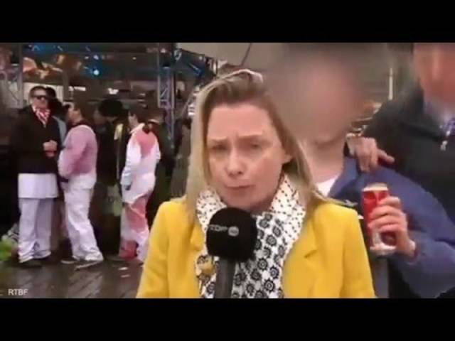 Reporterin wird an Kölner Karneval belästigt