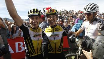 Am Cape Epic gemeinsam Sieger, am Sonntag Gegner: Nino Schurter (l.) und Matthias Stirnemann