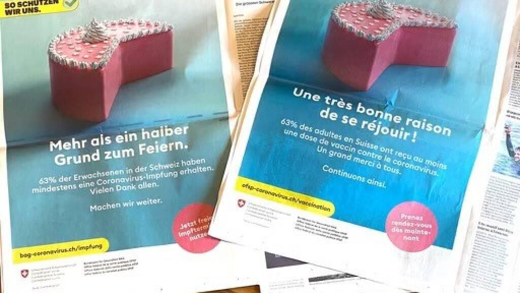 Mit Kuchen und einem Impftruck für spontanes Impfen will das Bundesamt für Gesundheit (BAG) am Montag in Bern die Impfbereitschaft anheizen.
