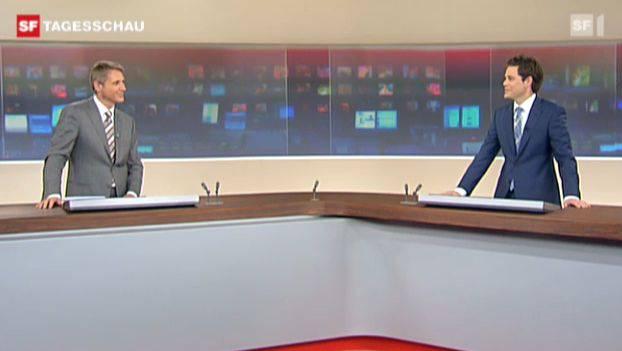 Das muntere Moderatorenduo: Franz Fischlin (links) und Lukas Studer.