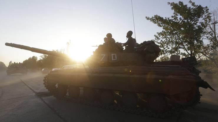 Ukrainischer Panzer in Mariupol.