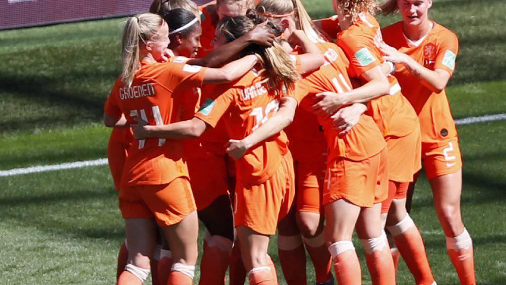 Niederländischer Torjubel an der Frauen-WM. Der Europameister steht in den Halbfinals