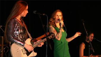 Ally Venable, Ina Forsman und Katarina Pejak (v.l.) beim Konzert in Frick.