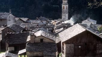 Blick auf Bergell-Dorf Soglio (Archiv)