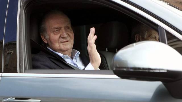 Heimfahrt vom Spital: König Juan Carlos
