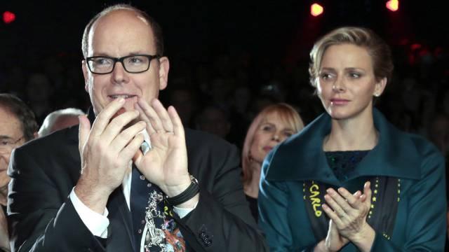Prinz Albert II von Monaco und Prinzessin Charlène