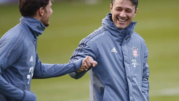 Niko Kovac hat gut lachen: Die Stimmungslage bei Bayern München hat in den letzten Wochen komplett gedreht