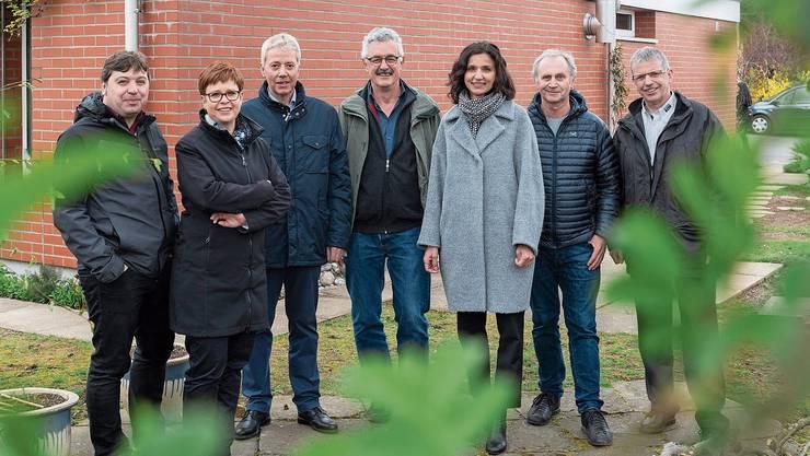 Andreas Fischer (links) lancierte zusammen mit anderen Politikern und Verbandsvertretern im letzten Frühjahr die Aargauische Klimaschutzinitiative zur CO2-Reduktion im Gebäudebereich.