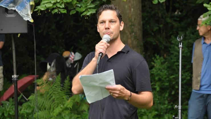 """Wortjonglierer zum 1. August: Simon Libsig, Veranstalter von """"Poeten zur Lage der Nation"""""""