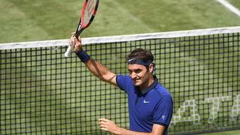 Roger Federer hatte in der 1. Runde in Halle alles im Griff