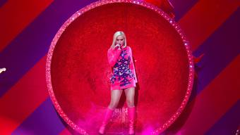 Katy Perry singt an der iHeartRadio KIIS FM's Jingle Ball show.