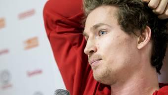 Erst die Schockdiagnose, jetzt die Nachdenklichkeit: Snowboarder Iouri Podladtchikov macht sich trotz Glück im Unglück Sorgen um seine Gesundheit. (Archivbild)